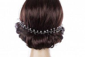 Svatební ozdoba do vlasů - čelenka Stříbrné krystalky do vlasů 101d3e7cfb