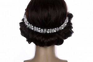 Svatební ozdoba do vlasů - čelenka Wedding krystalky a perly do vlasů e98ea5b694