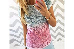 Dámské dvoubarevné tričko Ellen c717c8a758