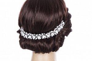 Svatební ozdoba do vlasů - čelenka crystal krystalky a perly do vlasů 4f1b9cc981