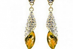 Ziskoun náušnice Long Drop Earrings- gold CE000038 Barva: Žlutá